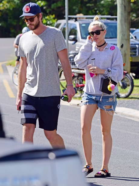 Miley Cyrus and Liam Hemsworth head for lunch