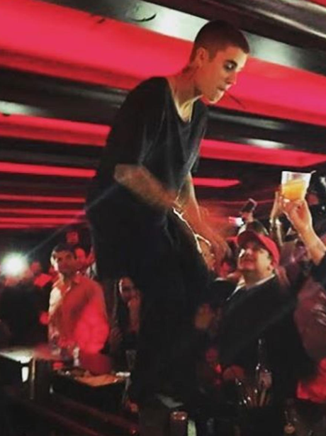 Justin Bieber parties in Boston on tequila and vod