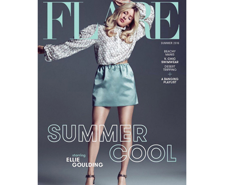 Ellie Goulding on Flare magazine