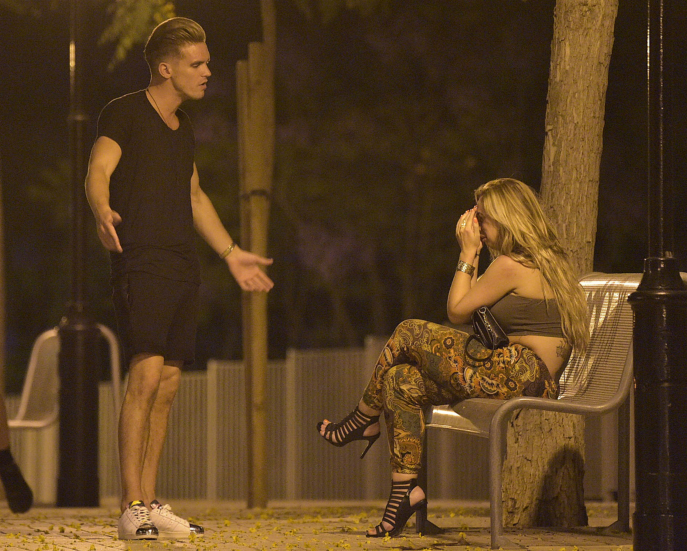 Holly Hagan and Gaz Beadle in Marbella