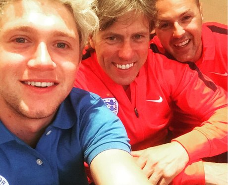 Niall Horan, John Bishop and Paddy McGuiness in ne