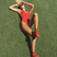 Image 9: Hailey Baldwin in red swimsuit