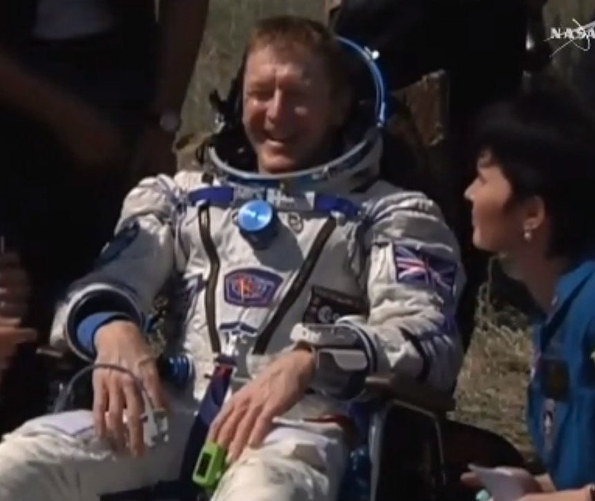 Tim Peake earth