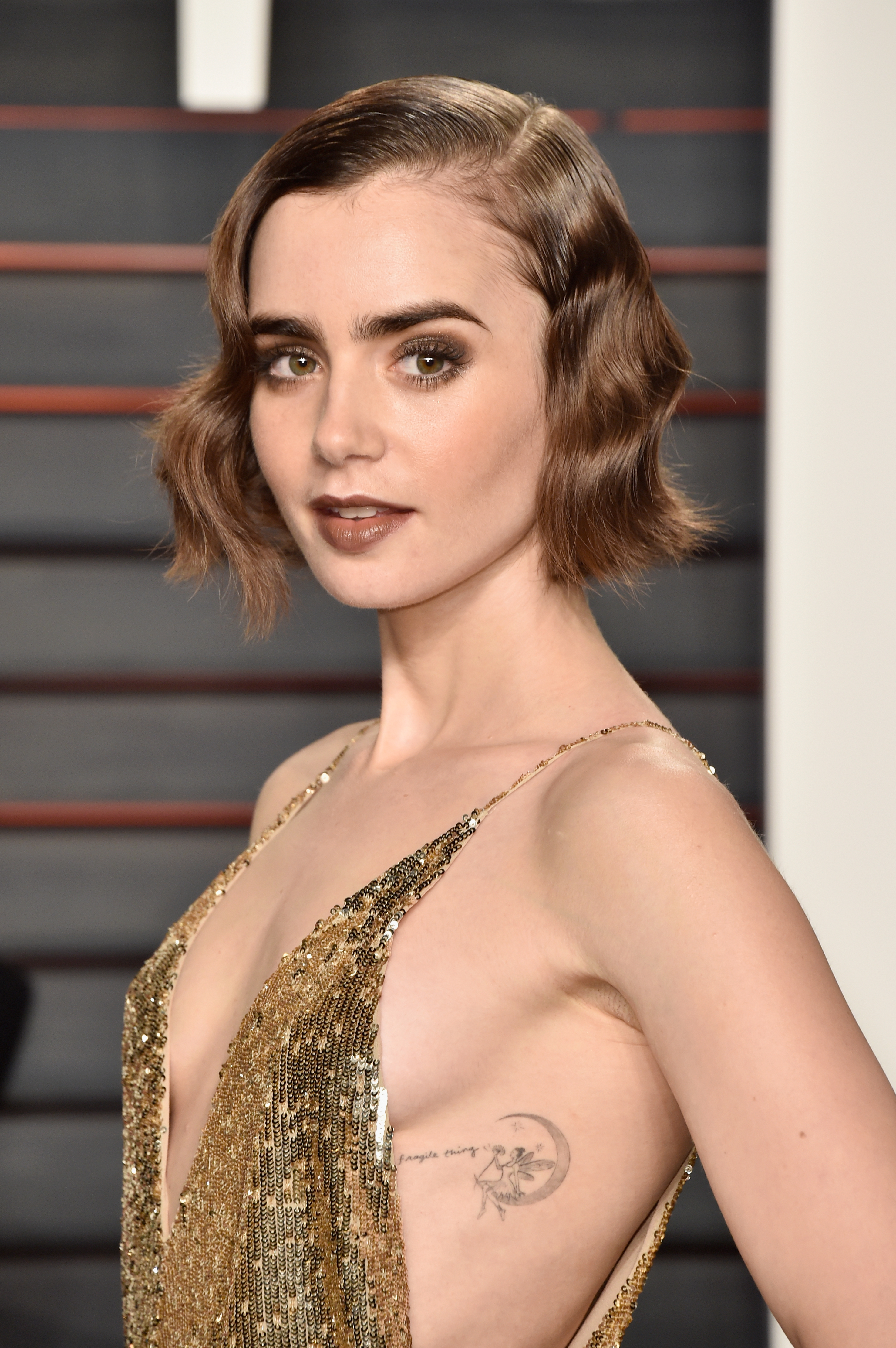 Lily Collins Vanity Fair Oscars Party 2016