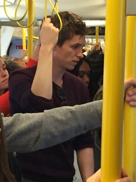 Eddie Redmayne on the the tube
