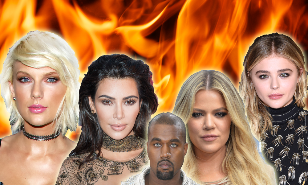Taylor, Kim, Khloe, Kanye and Chloe