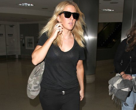 Ellie Goulding lands into LA after taking a break