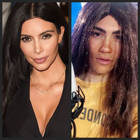George Shelley As Kim Kardashian