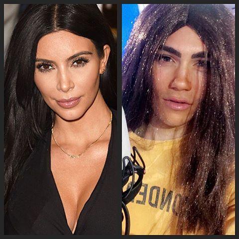 George Shelley As Kim Kardashian