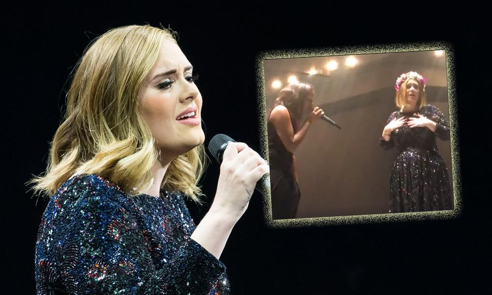 Adele Bringing A Fan On Stage