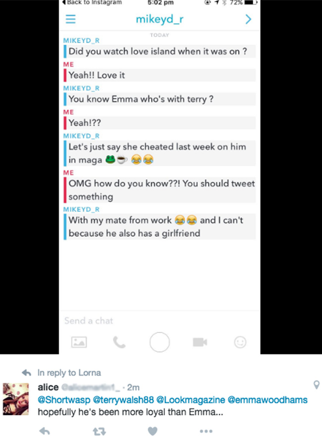 Emma Terry twitter cheat