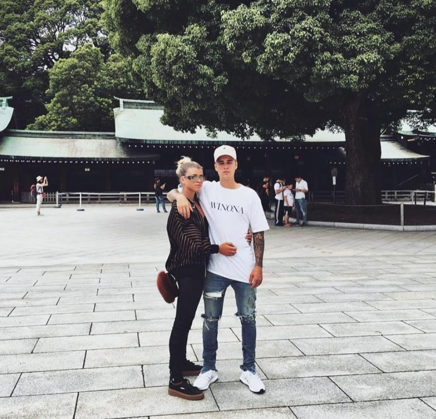 Justin Bieber and Sofia Richie in Japan