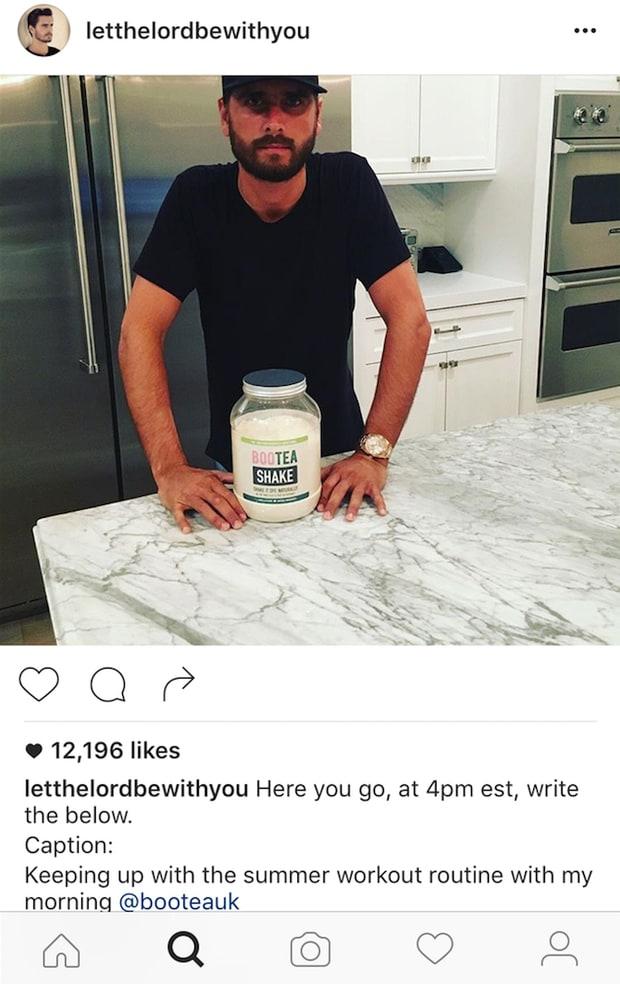 Scott Disick Instagram Boo Tea