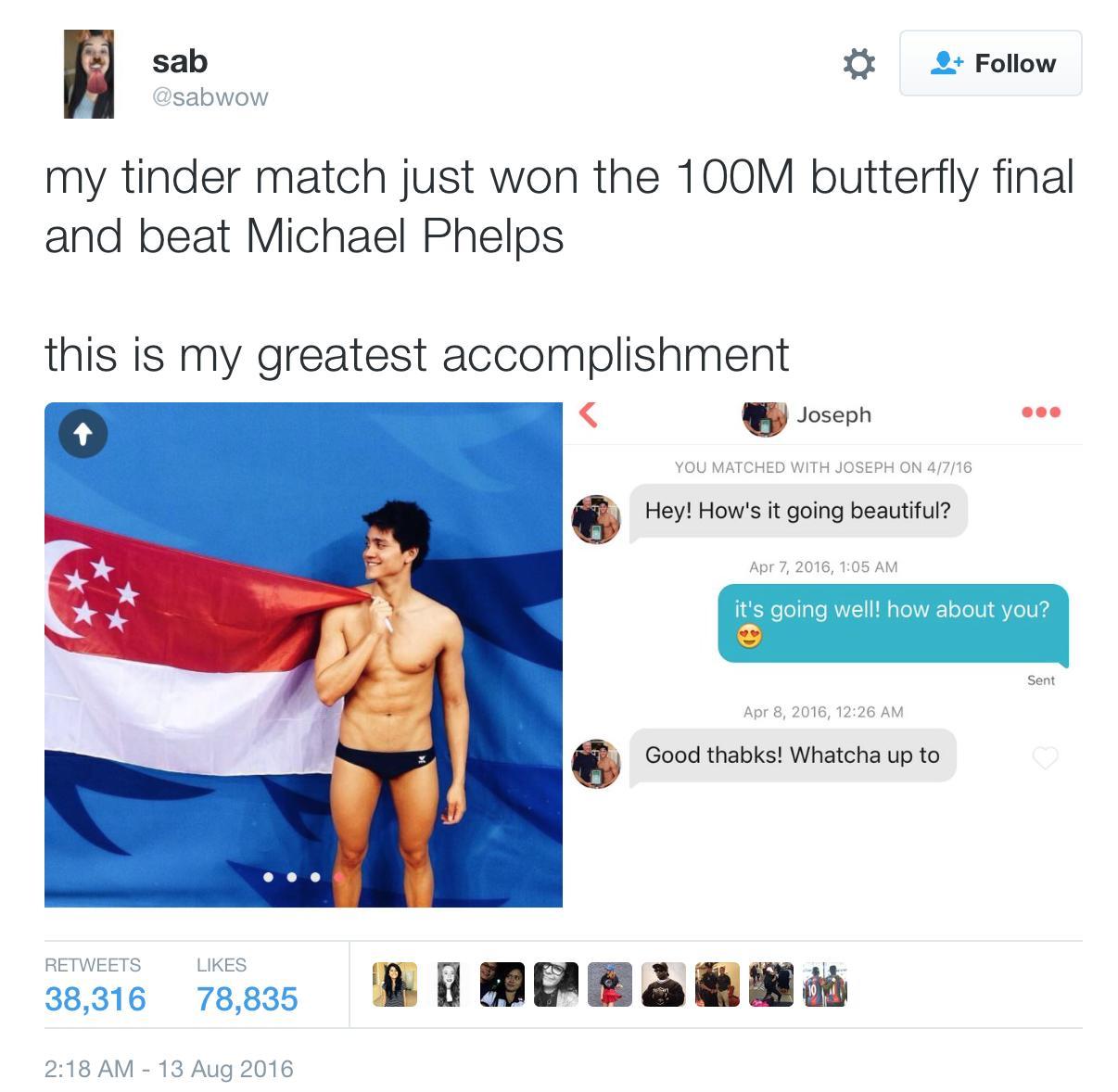 Tinder Olympian