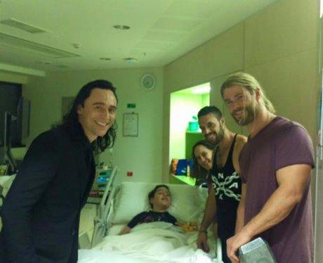 Chris Hemsworth and Tom Hiddleston Bringing Calyn