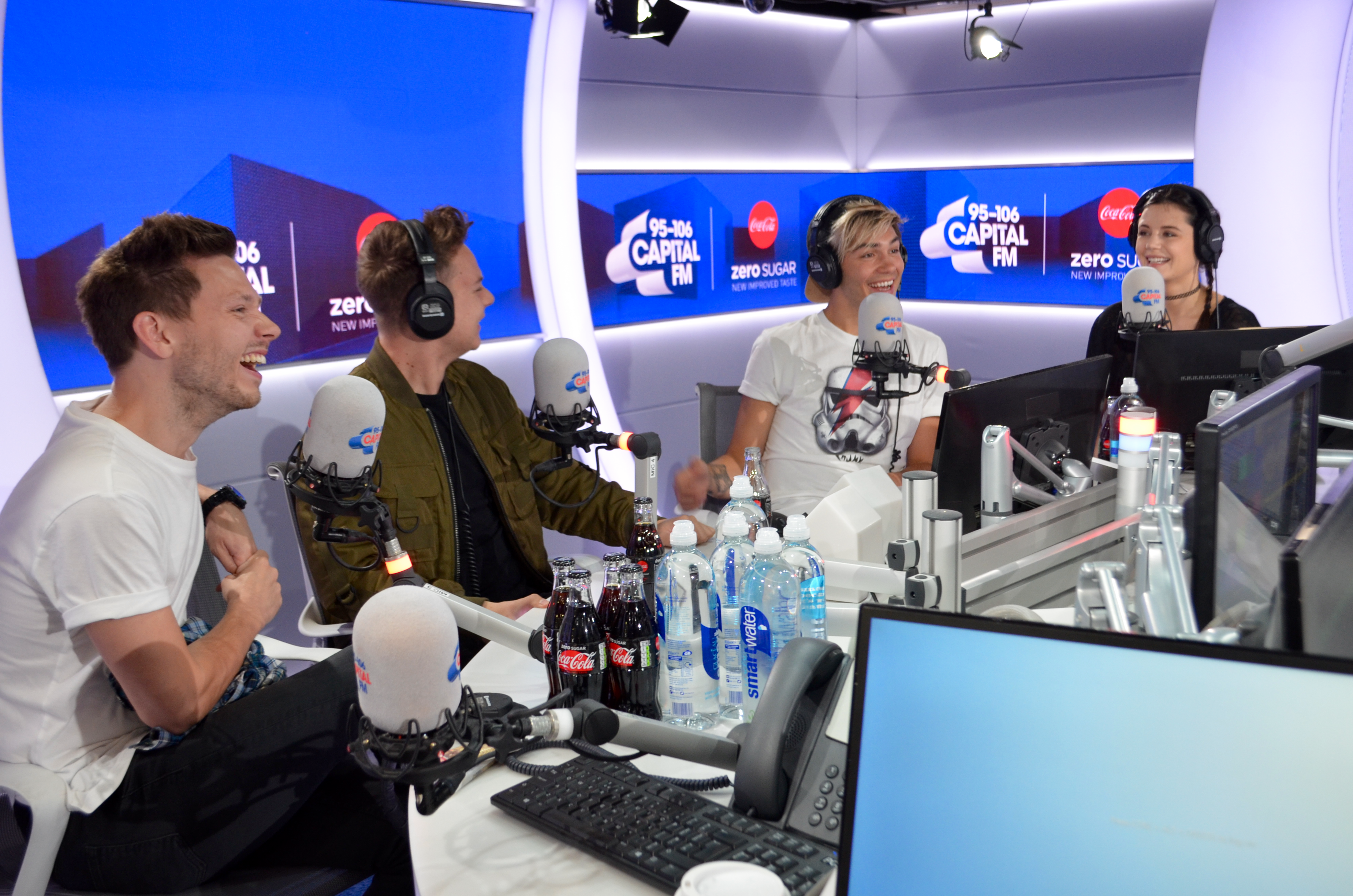 Conor Maynard and Will Manning with Dave Berry, Ge