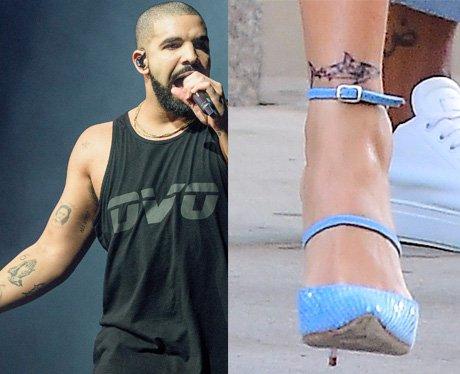 Rihanna and Drake get matching shark tattoos