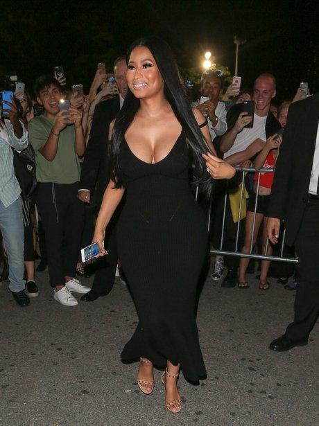 Nicki Minaj arrives at New York Fashion Week