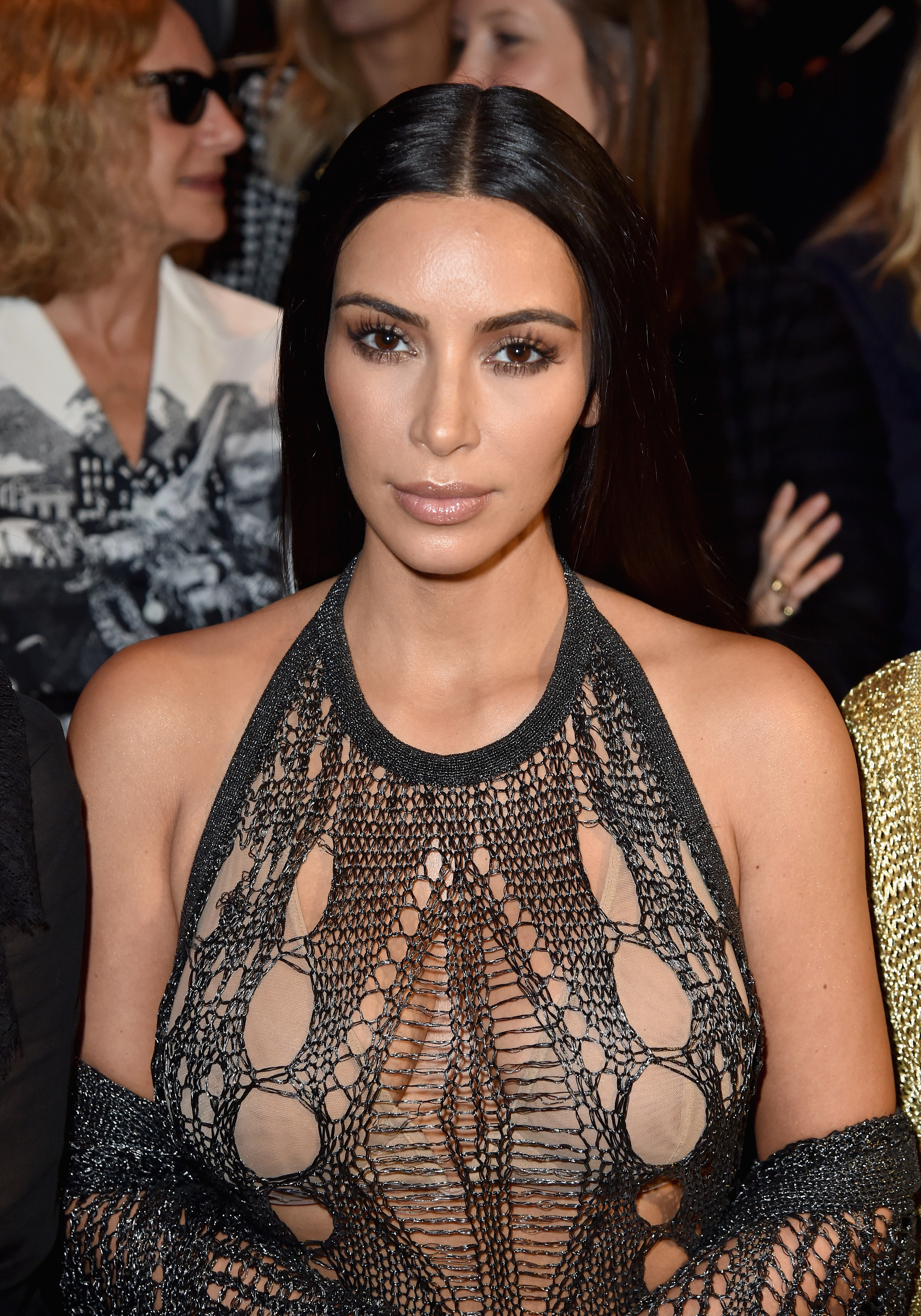 Kim Kardashian at the Balmain : Front Row - Paris