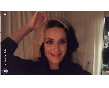 Katy Perry pretends that she's Sia