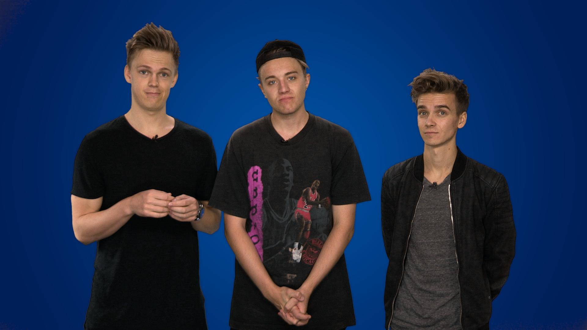 Joe Sugg Caspar Lee & Roman Kemp