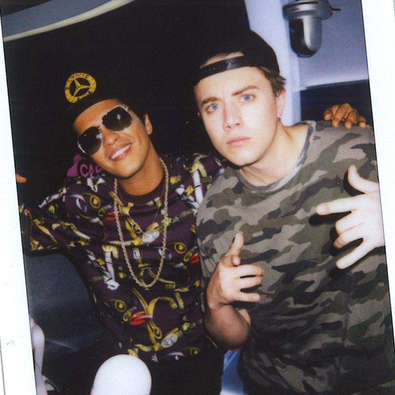 Roman Kemp with Bruno Mars