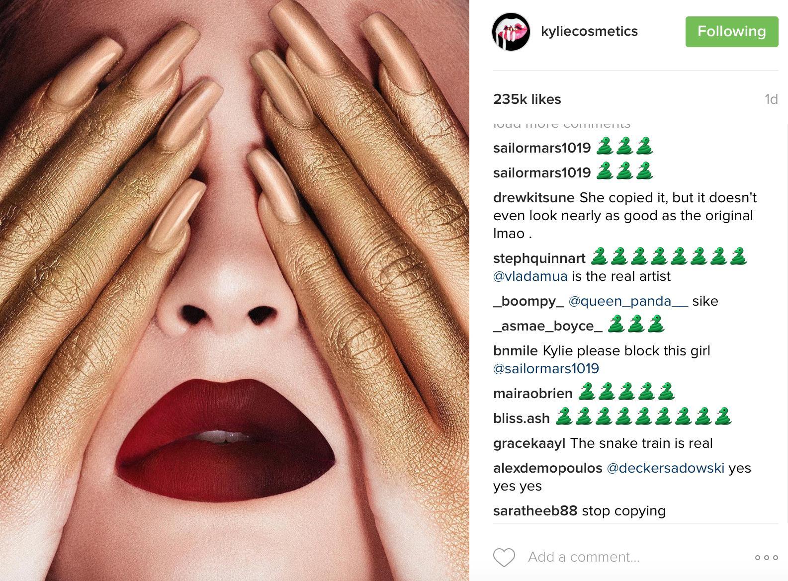 Kylie Jenner snake