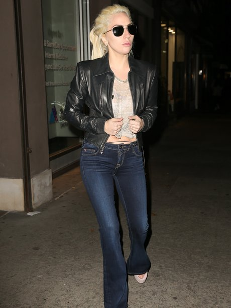 Lady Gaga out and about rocking a pair of flares