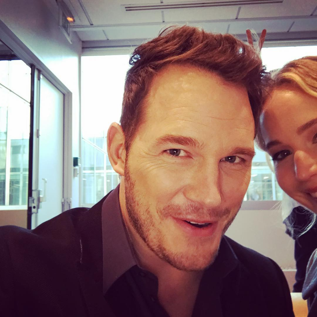 Chris Pratt and Jennifer Lawrence Instagram Selfie
