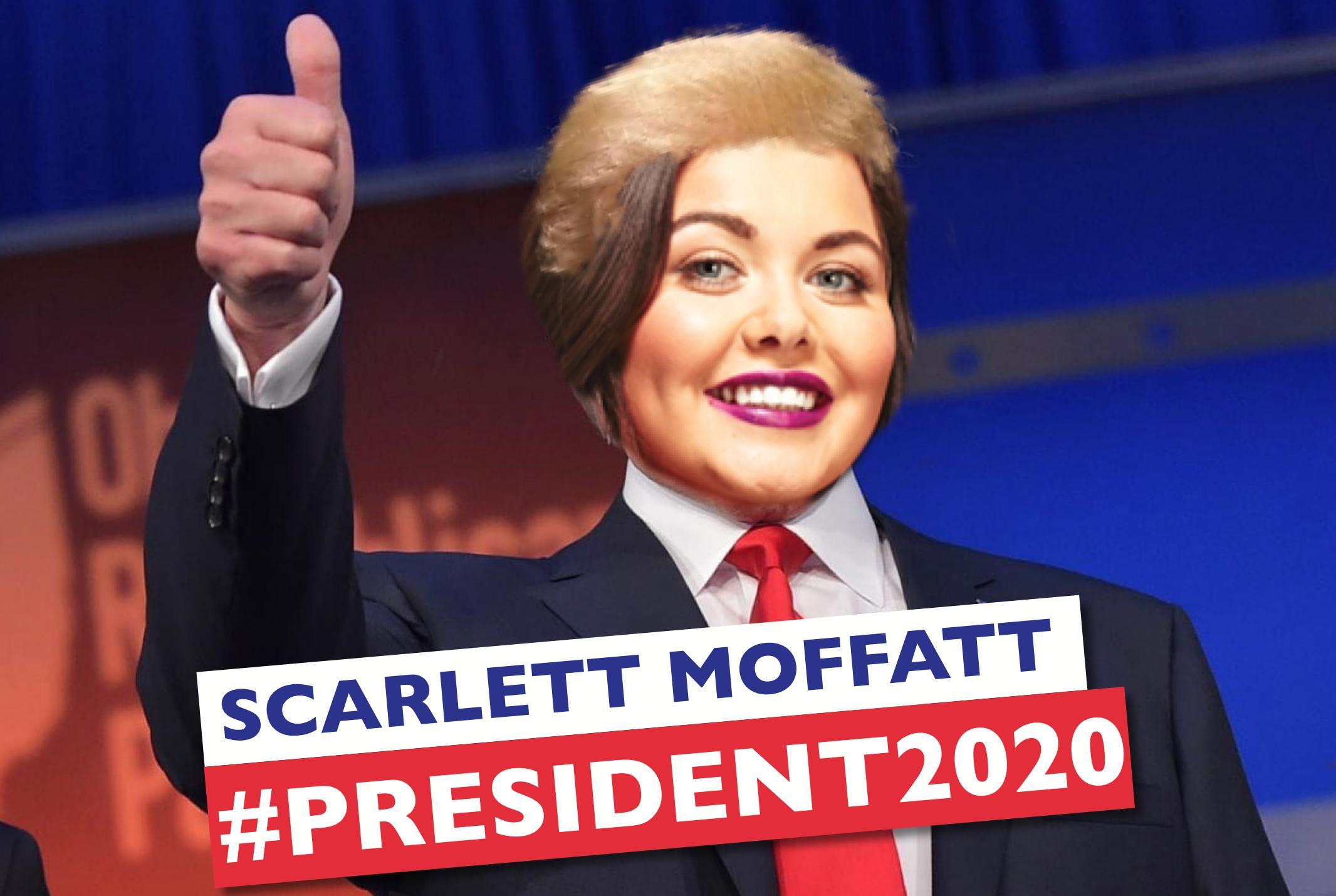 Scarlett Moffatt Donald Trump