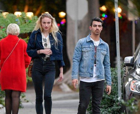 Sophie Turner and Joe Jonas leave a recording stud
