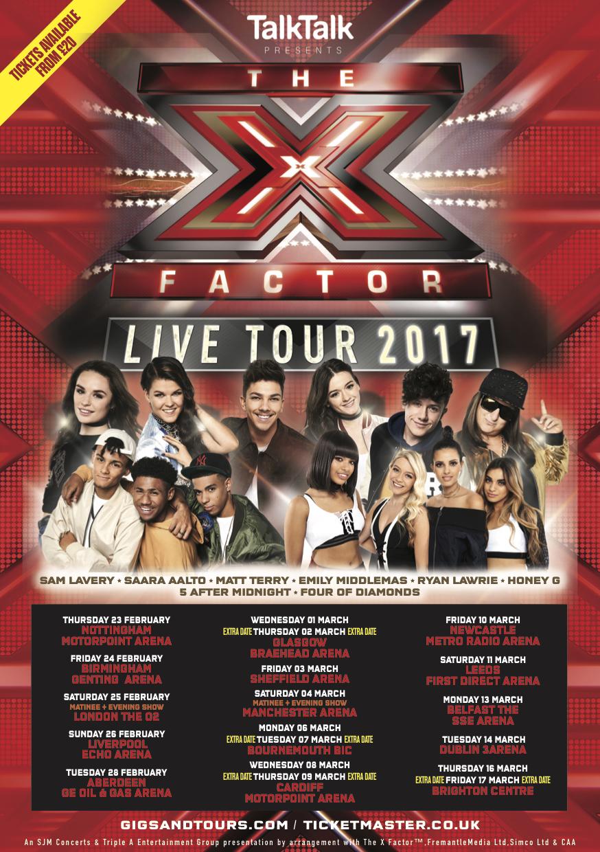 x factor live tour 2017