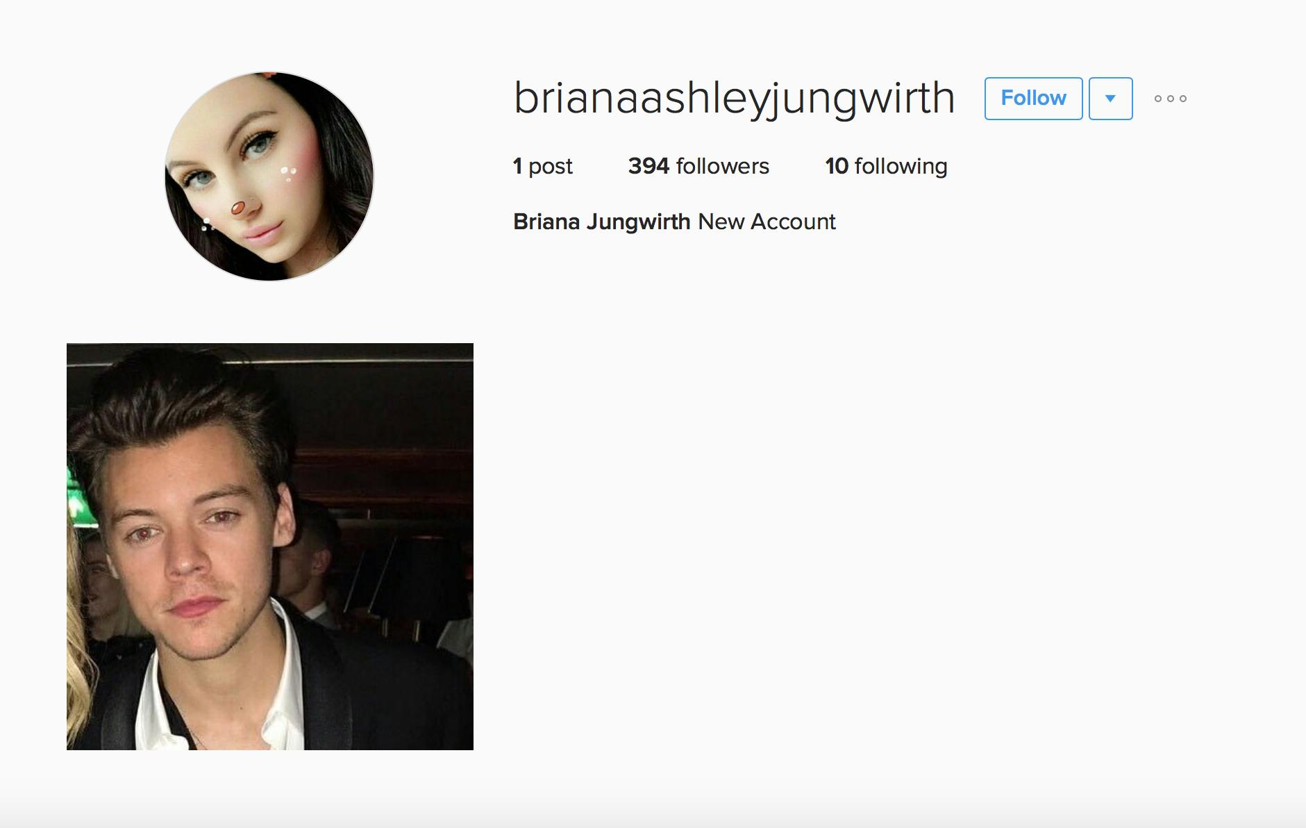 Briana Jungwirth Instagram Account