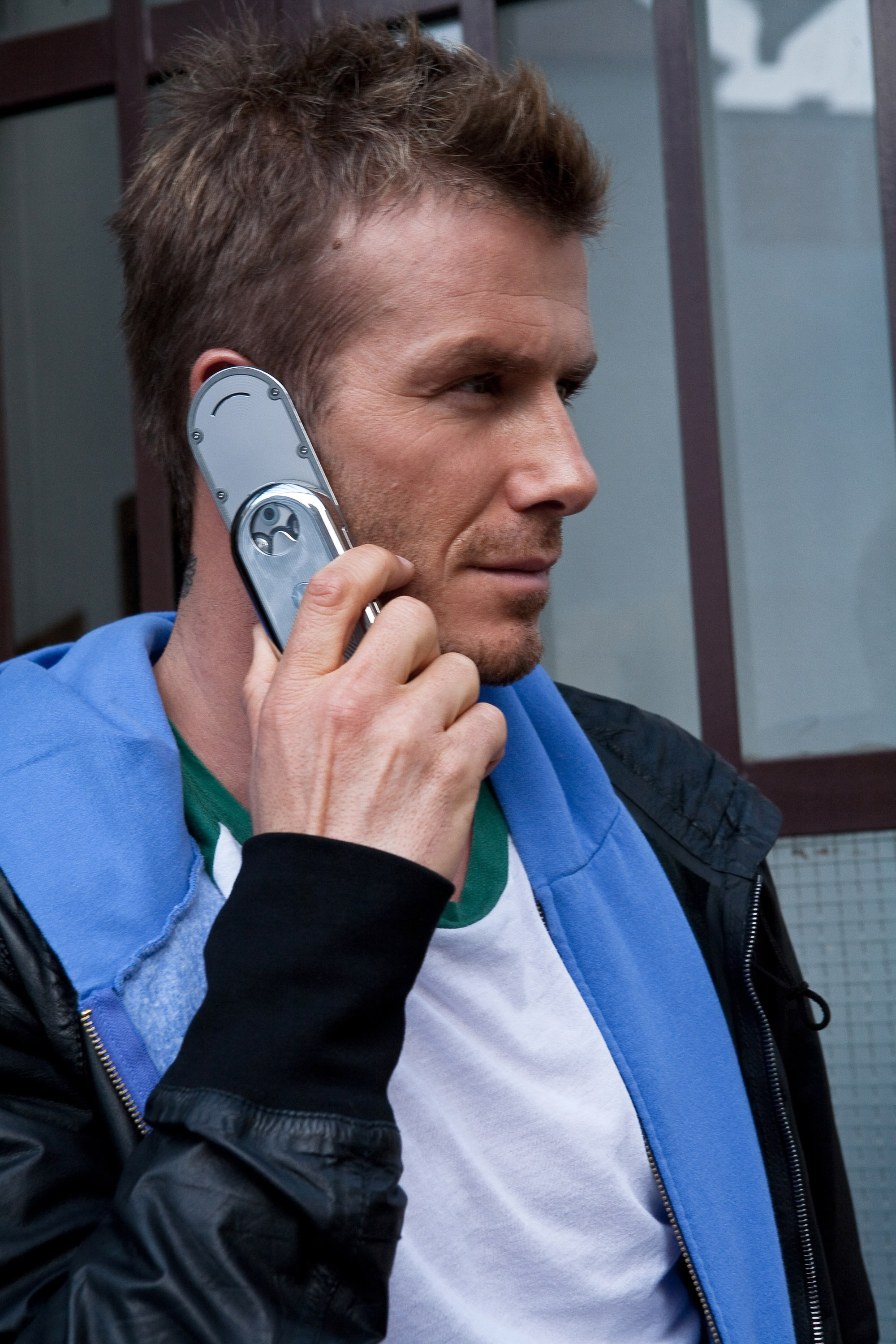 David Beckham Seen Leaving Motorola