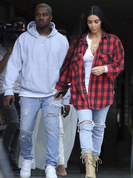 Kim and Kanye at filming
