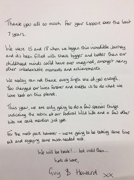 Disclosure Hiatus Letter