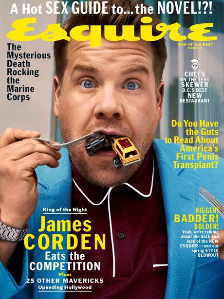 James Corden on the cover of Esquire