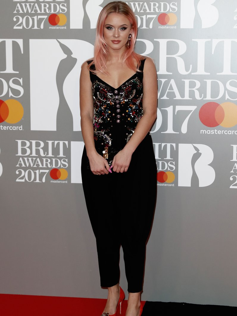BRITs 2017 Red Carpet Arrivals Zara Larrson