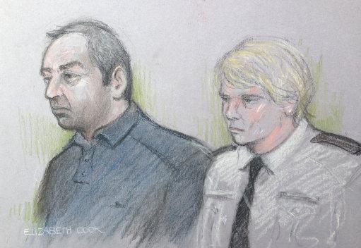 Ian Stewart murderer Helen Bailey Court Sketch