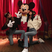 Image 3: Gigi and Bella Hadid hang out with Micky Mouse