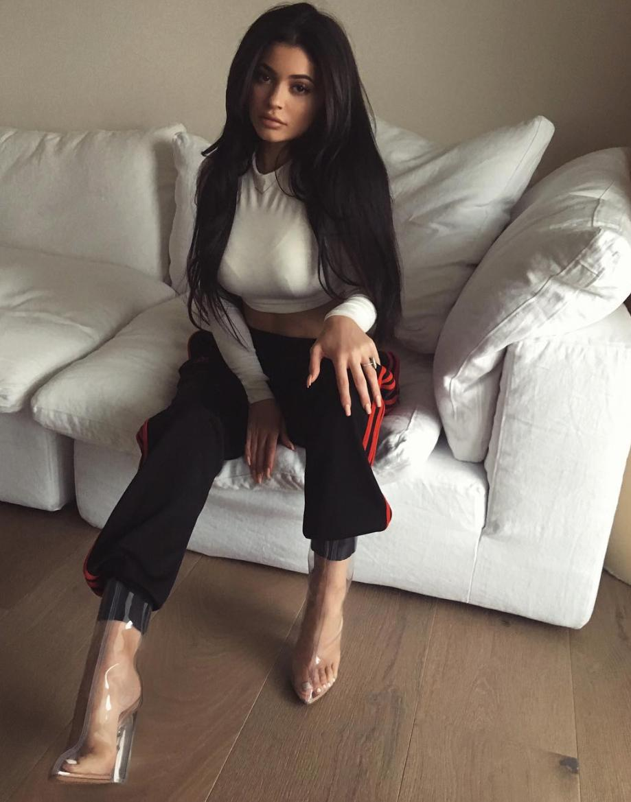 Kylie Jenner clear boots
