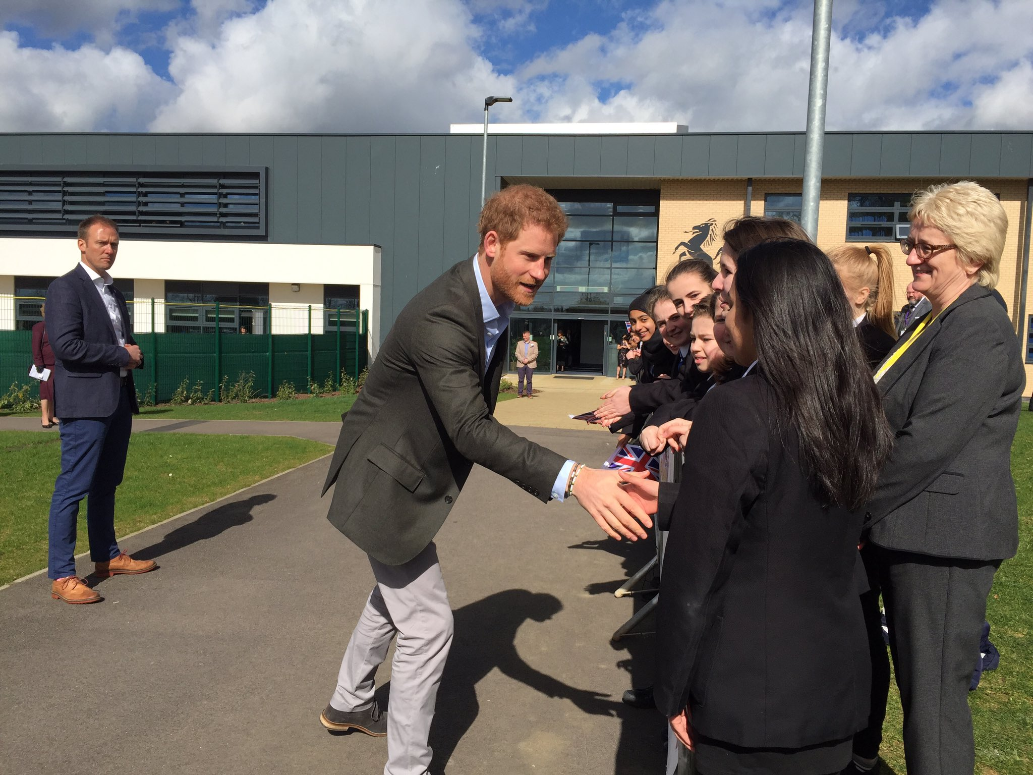 Prince Harry students Leicester