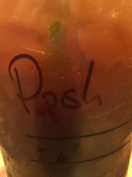Victoria Beckham goes 'Posh' in Starbucks