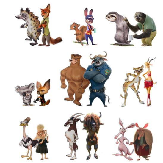 Zootopia Stolen Idea Characters