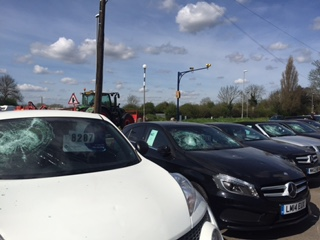 Lowdham Cars Vandalism Nottingham