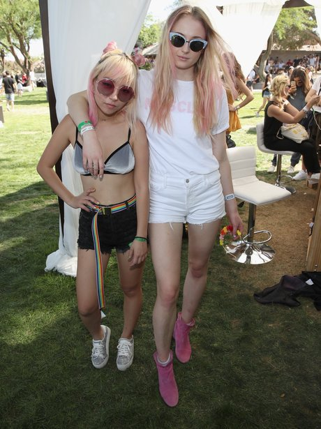 Coachella 2017 Sophie Turner and JinJoo Lee
