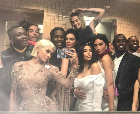 Kylie Jenner posts iconic group selfie from Met Ga