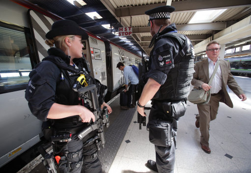 Armed Police at Birmingham New Street Station