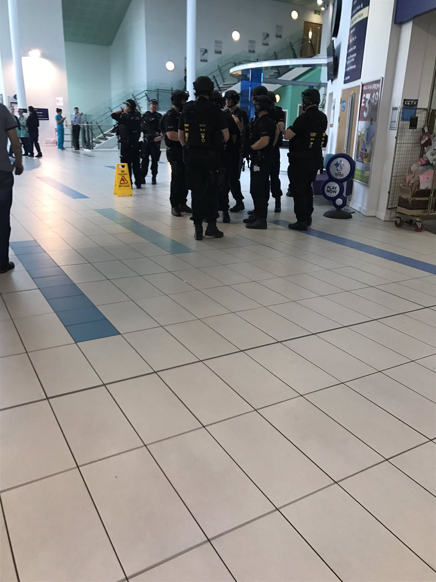 Armed Police At Queen Elizabeth Hospital