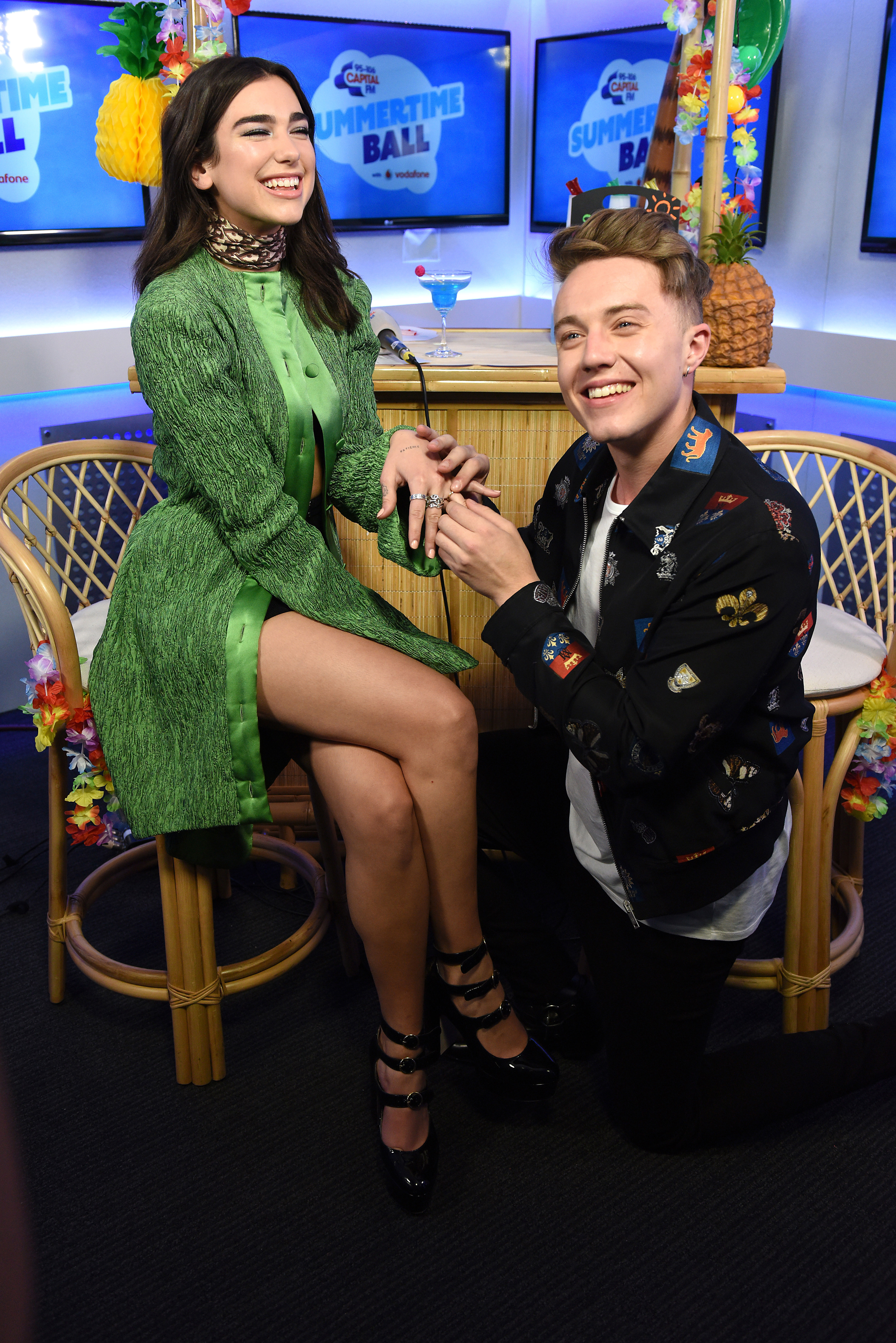 Dua Lipa and Roman Kemp Summertime Ball 2017 Studi